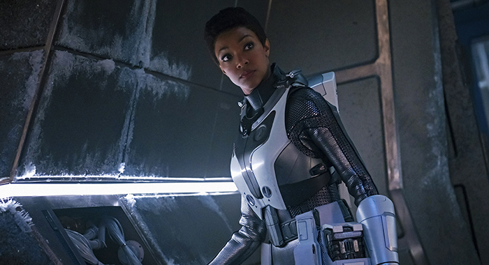 """""""Brother"""" -- Episode 201-- Pictured: Sonequa Martin-Green as Burnham of the CBS All Access series STAR TREK: DISCOVERY. Photo Cr: Jan Thijs/CBS"""