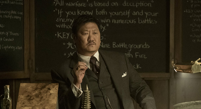 "DEADLY CLASS -- ""Noise, Noise, Noise"" Episode 101 -- Pictured: Benedict Wong as Master Lin -- (Photo by: Katie Yu/SYFY)"