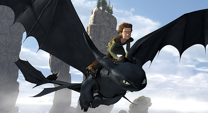 HOW TO TRAIN YOUR DRAGON, Hiccup (top, voice: Jay Baruchel), 2010. ©DreamWorks SKG/Courtesy Everett Collection