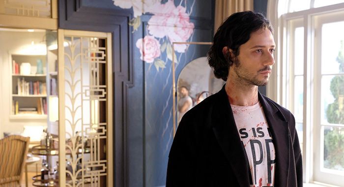 """THE MAGICIANS -- """"Lost, Found, Fucked"""" Episode 402 -- Pictured: Hale Appleman as Eliot Waugh -- (Photo by: Eric Milner/SYFY)"""