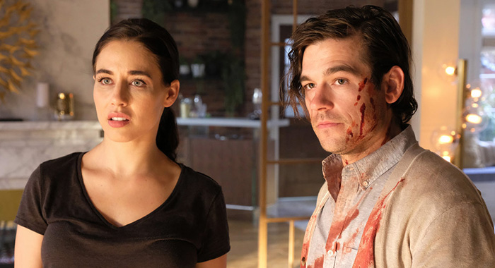 """THE MAGICIANS -- """"Lost, Found, Fucked"""" Episode 402 -- Pictured: (l-r) Jade Tailor as Kady Orloff-Diaz, Jason Ralph as Quentin Coldwater -- (Photo by: Eric Milner/SYFY)"""