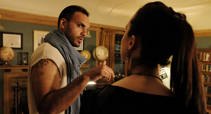 """THE MAGICIANS -- """"Lost, Found, Fucked"""" Episode 402 -- Pictured: Arjun Gupta as Penny Adiyodi -- (Photo by: Eric Milner/SYFY)"""