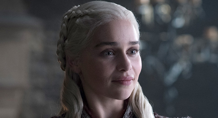 Emilia Clarke as Daenerys Targaryen in Game of Thrones season 8 (Helen Sloan/HBO)