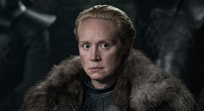Gwendoline Christie as Brienne in Game of Thrones season 8 (Helen Sloan/HBO)