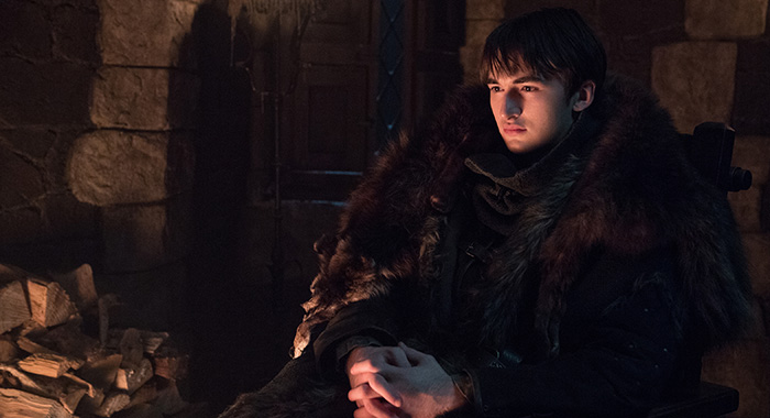 Isaac Hempstead Wright as Bran Stark in Game of Thrones season 8 (Helen Sloan/HBO)