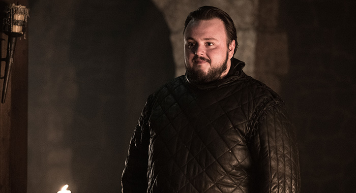 John Bradley as Samwell Tarly in Game of Thrones season 8 (Helen Sloan/HBO)