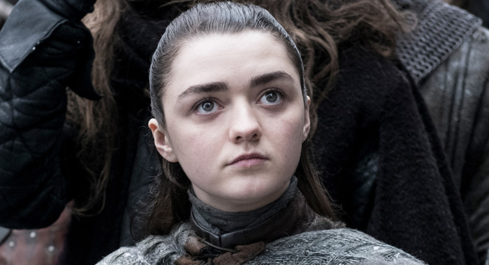 Maisie Williams as Arya Stark in Game of Thrones season 8 (Helen Sloan/HBO)