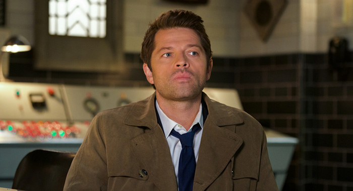 "Supernatural -- ""Nihilism"" -- Image Number: SN1410A_0191r.jpg -- Pictured: Misha Collins as Castiel -- Photo: Shane Harvey/The CW -- © 2018 The CW Network, LLC. All Rights Reserved."