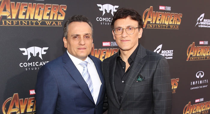 HOLLYWOOD, CA - APRIL 23: Directors Joe Russo (L) and Anthony Russo attend the Los Angeles Global Premiere for Marvel Studios' Avengers: Infinity War on April 23, 2018 in Hollywood, California. (Photo by Jesse Grant/Getty Images for Disney)