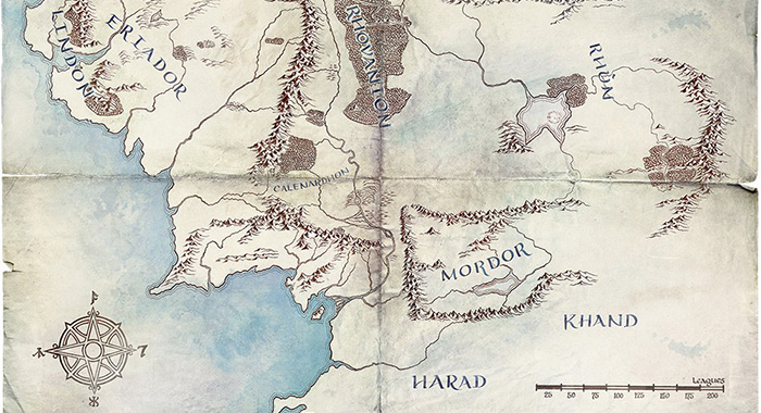 Lord of the Rings series map (Amazon Prime Video)