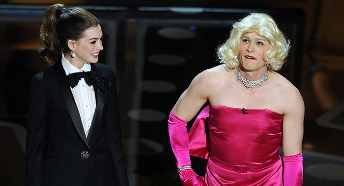 83rd annual Academy Awards presenters Anne Hathaway and James Franco