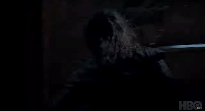 Maisie Williams in Game of Thrones season 8 trailer screencap (HBO)