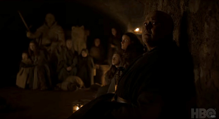 Conleth Hill as Lord Varys in Game of Thrones season 8 trailer screencap (HBO)