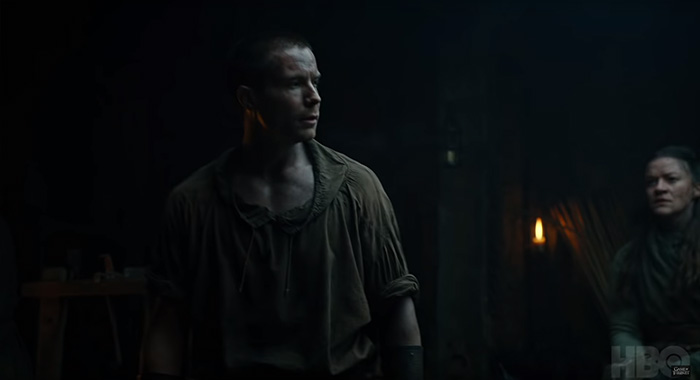 Joe Dempsie as Gendry in Game of Thrones season 8 trailer screencap (HBO)