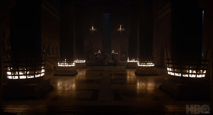 Iron Throne in Game of Thrones season 8 trailer screencap (HBO)
