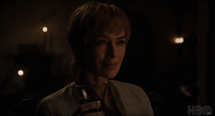 Lena Headey as Cersei Lannister in Game of Thrones season 8 trailer screencap (HBO)