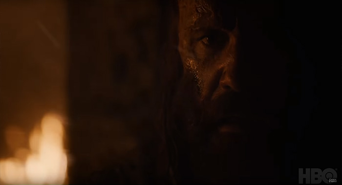 rory McCann as The Hound in Game of Thrones season 8 trailer screencap (HBO)