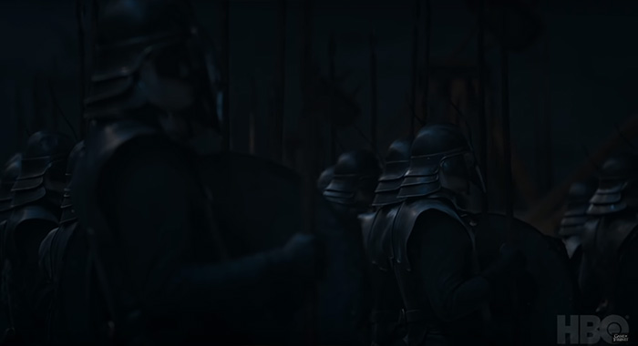 Unsullied in Game of Thrones season 8 trailer screencap (HBO)