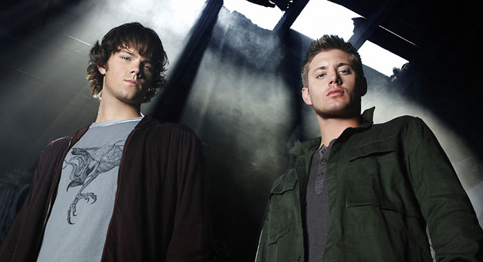 SUPERNATURAL Image SN2 - 0698 Pictured (L-R): Jared Padalecki as Sam and Jensen Ackles as Dean star in SUPERNATURAL on THE CW. Photo Credit: Michael Muller/The CW