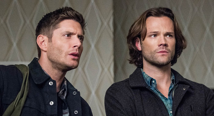 "Supernatural -- ""Devil's Bargain"" -- Image Number: SN1313a_0238b.jpg -- Pictured (L-R): Jensen Ackles as Dean and Jared Padalecki as Sam -- Photo: Dean Buscher/The CW"