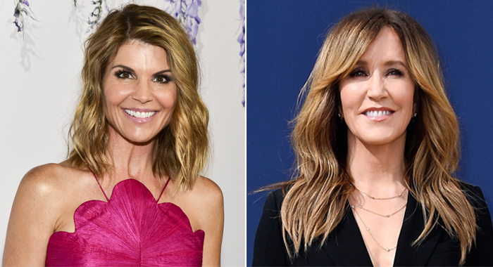 Lori Loughlin and Felicity Huffman (Rodin Eckenroth/Getty Images; Frazer Harrison/Getty Images)