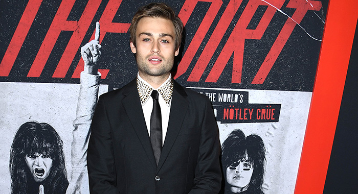 "HOLLYWOOD, CALIFORNIA - MARCH 18: Douglas Booth arrives at the Premiere Of Netflix's ""The Dirt"" at ArcLight Hollywood on March 18, 2019 in Hollywood, California. (Photo by Steve Granitz/WireImage)"