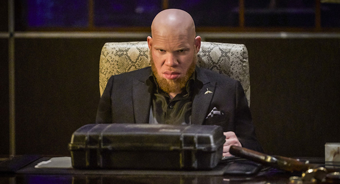 "Black Lightning -- "" Shadow of Death: The Book of War"" -- Image BLK113c_0192b2.jpg -- Pictured: Marvin ""Krondon"" Jones III as Tobias -- Photo: Bob Mahoney/The CW -- © 2018 The CW Network, LLC. All rights reserved"
