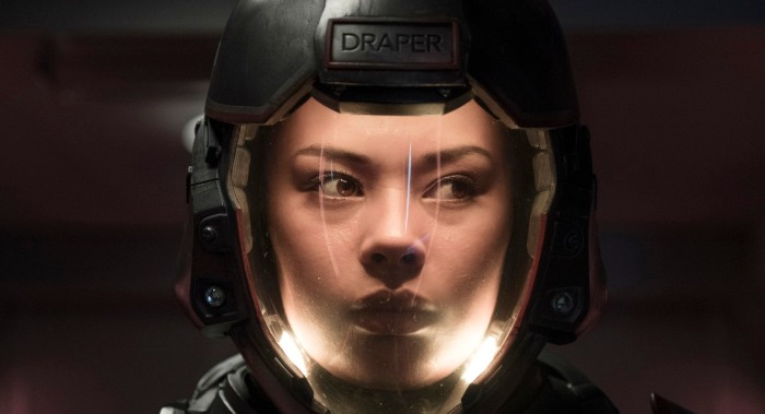 Frankie Adams as Bobbie Draper in The Expanse season 3