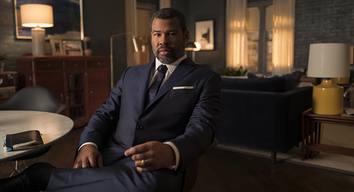 Jordan Peele as The Narrator of the CBS All Access series THE TWILIGHT ZONE. Photo Cr: Robert Falconer/CBS © 2018 CBS Interactive. All Rights Reserved.