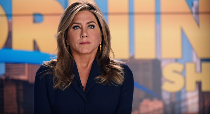 Jennifer Aniston in The Morning Show in Apple TV+ trailer screencap (Apple)