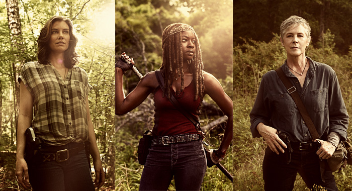 The Walking Dead - Lauren Cohan as Maggie Rhee, Danai Gurira as Michonne, Melissa McBride as Carol Peletier (Victoria Will/AMC)