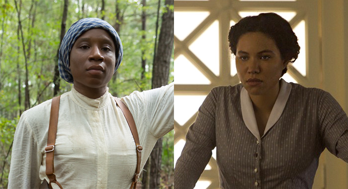Aisha Hinds as Harriet Tubman and Jurnee Smollett-Bell as Rosalee in Underground (WGN America)