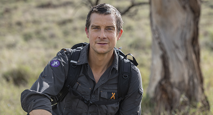 "Bear Grylls in Hostile Planet ""Grasslands"" episode; CR: Hostile Planet; National Geographic; NatGeo; African Photo Productions © 2018"