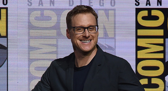"SAN DIEGO, CA - JULY 23: Alan Tudyk at ""Doctor Who"" BBC America official panel during Comic-Con International 2017 at San Diego Convention Center on July 23, 2017 in San Diego, California. (Photo by Kevin Winter/Getty Images)"