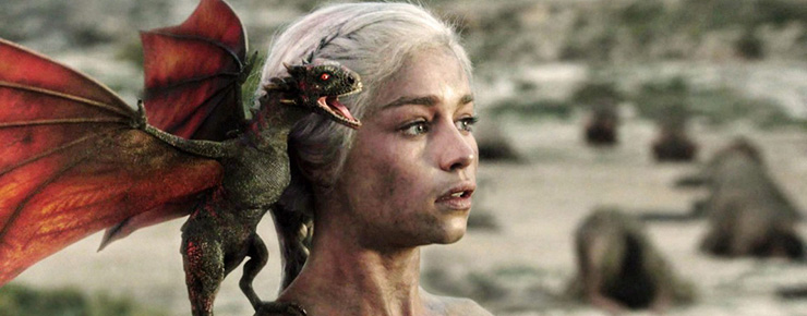 "Game of Thrones - Emilia Clarke as Daenerys season 1, episode 10 ""Fire and Blood"" (HBO)"