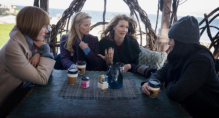 Big Little Lies Season 2: Nicole Kidman, Reese Witherspoon, Laura Dern, Shailene Woodley. photo: Jennifer Clasen/HBO