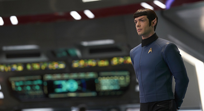 ÒSuch Sweet Sorrow, Part 2Ó -- Ep#214 -- Pictured: Ethan Peck as Spock of the CBS All Access series STAR TREK: DISCOVERY. Photo Cr: Russ Martin/CBS ©2018 CBS Interactive, Inc. All Rights Reserved.