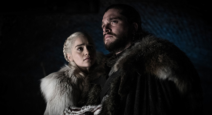 Daenerys and Jon in the crypt Game of Thrones season 8, episode 2 (Helen Sloan/HBO)