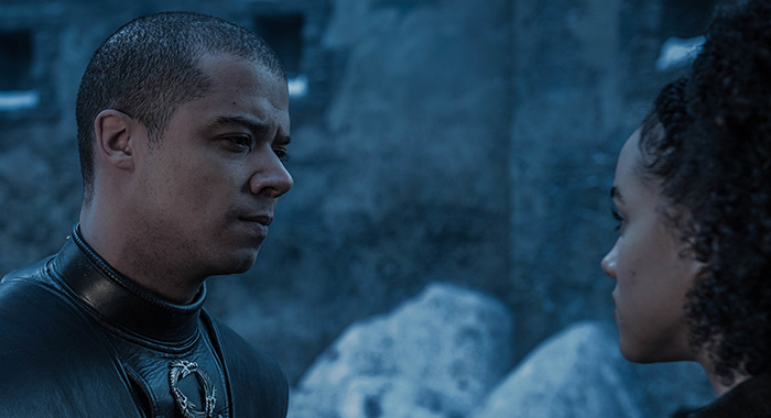 Grey Worm and Missandei in Game of Thrones season 8, episode 2 (Helen Sloan/HBO)