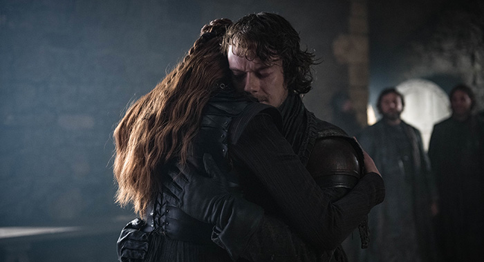 Sansa and Theon in Game of Thrones season 8, episode 2 (Helen Sloan/HBO)
