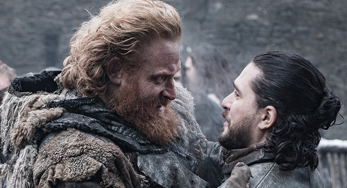 Tormund and Jon Game of Thrones season 8, episode 2 (Helen Sloan/HBO)