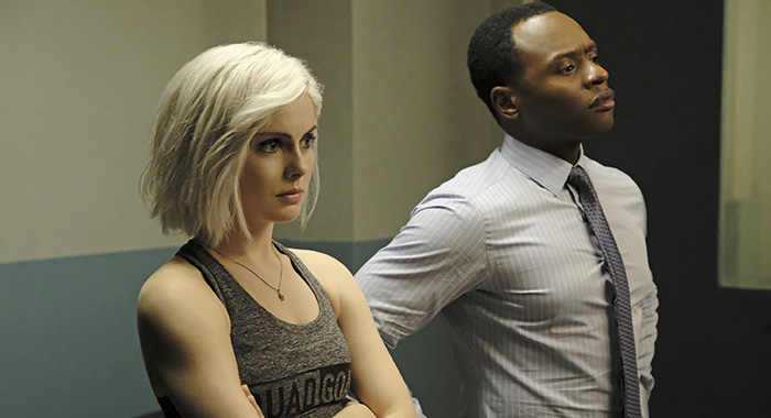 "iZombie -- ""Dead Lift"" -- Image Number: ZMB502a_0397b.jpg -- Pictured (L-R): Rose McIver as Liv and Malcolm Goodwin as Clive -- Photo Credit: Michael Courtney/The CW"