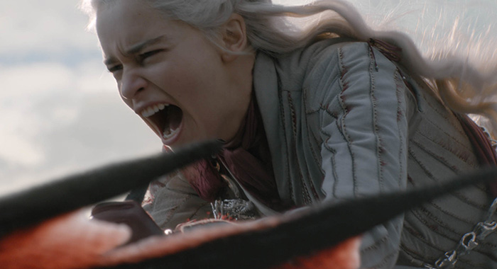 Daenerys (Emilia Clarke) in Game of Thrones season 8, episode 4 (HBO)