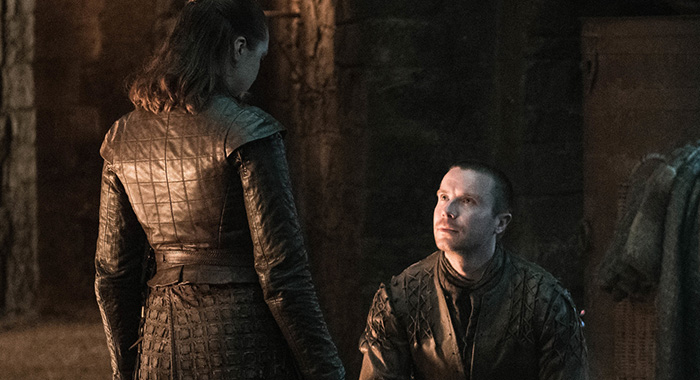 Arya and Gendry in Game of Thrones season 8, episode 4 (Helen Sloan/HBO)