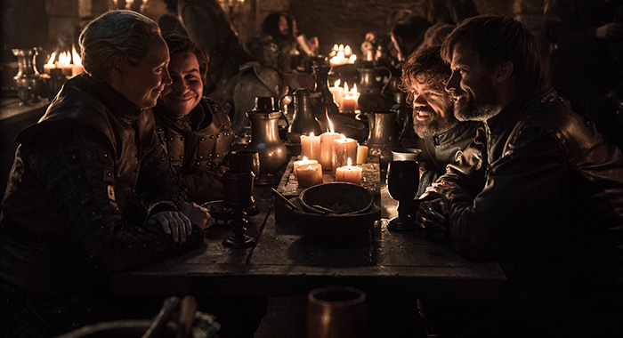 Brienne, Pod, Tyrion and Jaime in Game of Thrones season 8, episode 4 (Helen Sloan/HBO)