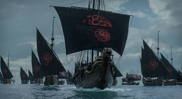 The Dragon Fleet in Game of Thrones