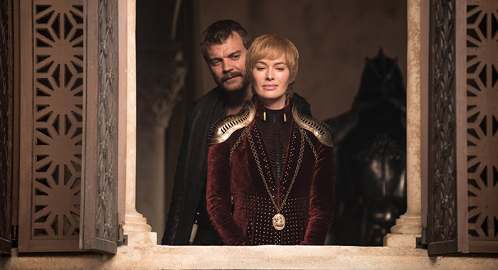 Euron and Cersei in Game of Thrones season 8, episode 4 (Helen Sloan/HBO)