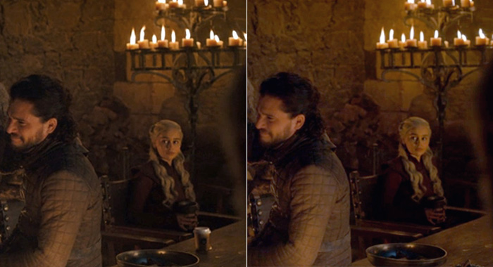 Coffed cup hijacks Game of Thrones season 8, episode 4 (HBO)