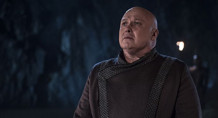 "Varys in season 8, episode 5 of Game of Thrones, ""The Bells"" (Helen Sloan/HBO)"