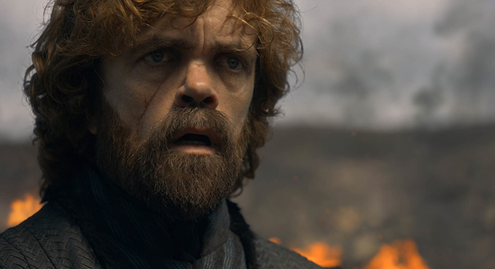 "Tyrion in season 8, episode 5 of Game of Thrones, ""The Bells"" (HBO)"